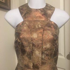 Gold skater dress